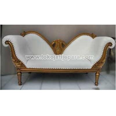 Sofa Jati TJJ03 Sofa Untuk Ruang Tamu Kecil