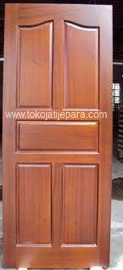 Pintu Kayu Jati TJJ02