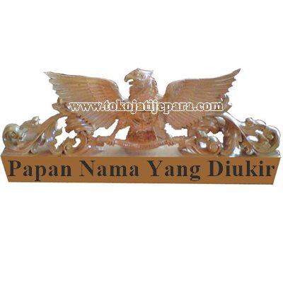 Papan Nama Ukiran Garuda TJJ08