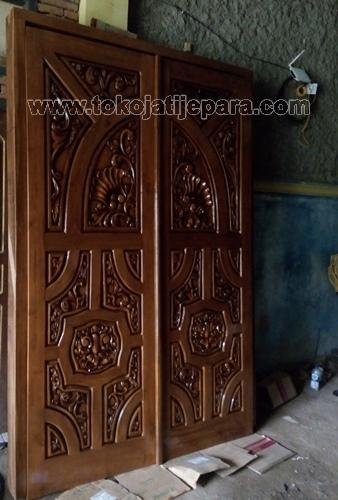 Pintu Utama Jati Ukiran Jepara TJJ04