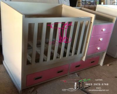 Box Tempat Tidur Bayi Elegan Dari Toko Jati Jepara TJJ086