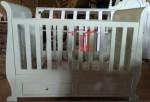Ranjang Bayi Minimalis Toko Jati Jepara Model Duco Putih