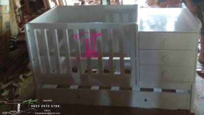 Tempat Tidur Bayi Duco Putih Dari Jepara Jawa Tengah