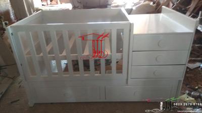 Tempat Tidur Bayi Minimalis Toko Jati Jepara Model Duco