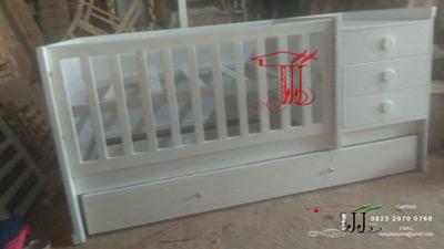 Tempat Tidur Bayi Minimalis Toko Jati Jepara Model Duco Putih